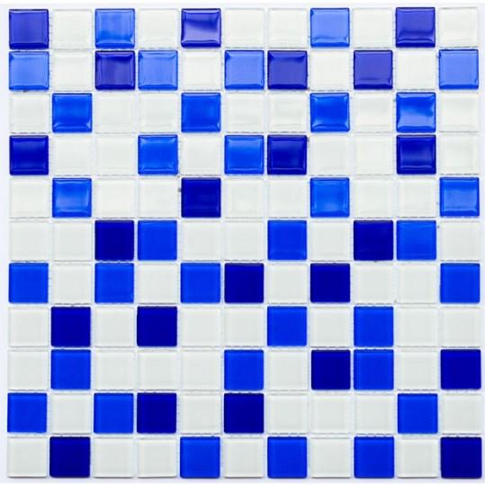 Фото - Мозаика Котто GM 4033 C3 cobalt d/cobalt m/white 30x30
