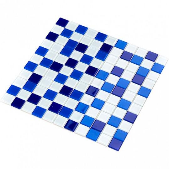 Мозаика Котто GM 4033 C3 cobalt d/cobalt m/white 30x30