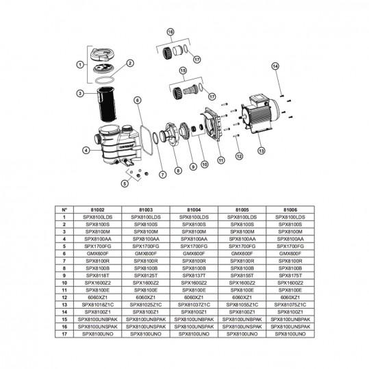 Фильтрационная установка Hayward Pro Top S166T8103 (6 м3/ч, D400)