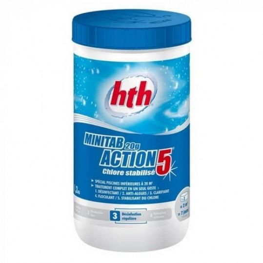 Фото - Медленно растворимые таблетки 20 гр 5в1 hth MINITAB 20g Action 5 хлор, 1.2 кг