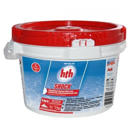 Фото - Хлор шок hth порошок SHOCK powder 75-78%, 5 кг (нестабилизированный хлор)