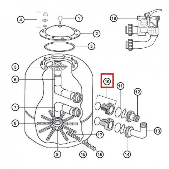 Муфта для фильтров Hayward NC (D500-600) NCX12014