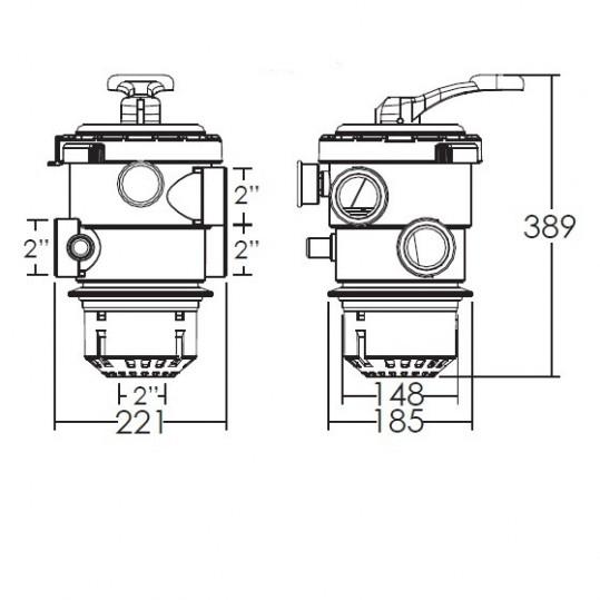 Кран шестиходовой Emaux MPV08 (2'') верхний
