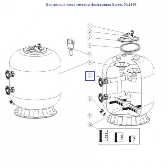 Внутренняя часть системы фильтрации Emaux NL1200 89012804
