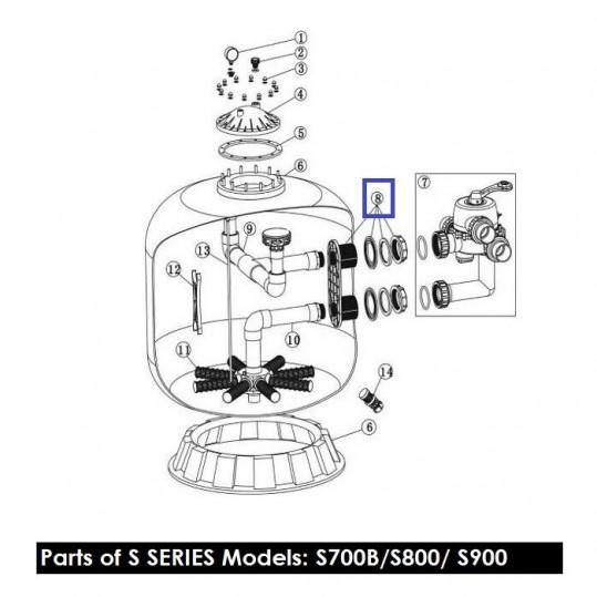 """Муфта накидная 2"""" для фильтров Emaux серии S (89011201)"""