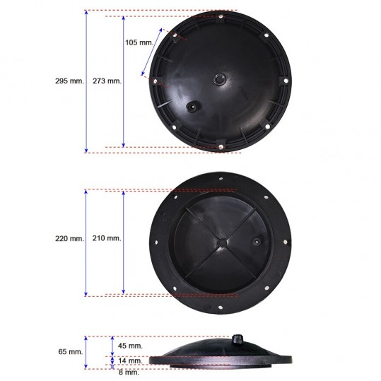 Крышка бочки фильтра AK Kripsol 1050-2000 RCFI0001.01R