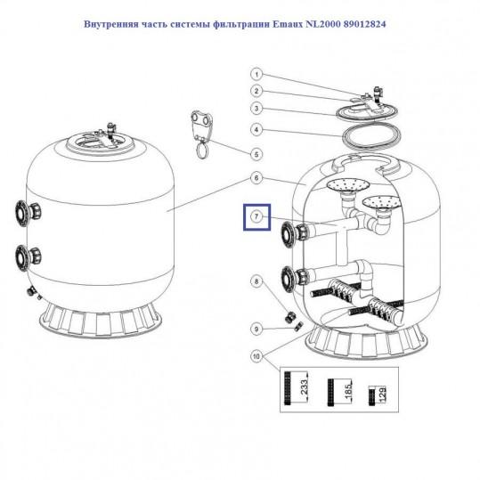 Внутренняя часть системы фильтрации Emaux NL2000 89012824