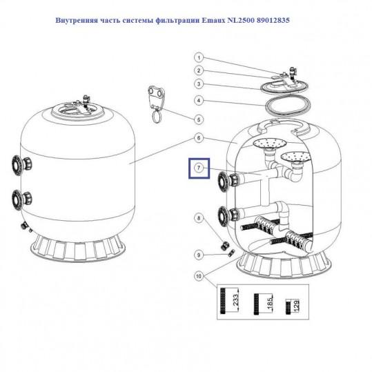 Внутренняя часть системы фильтрации Emaux NL2500 89012835