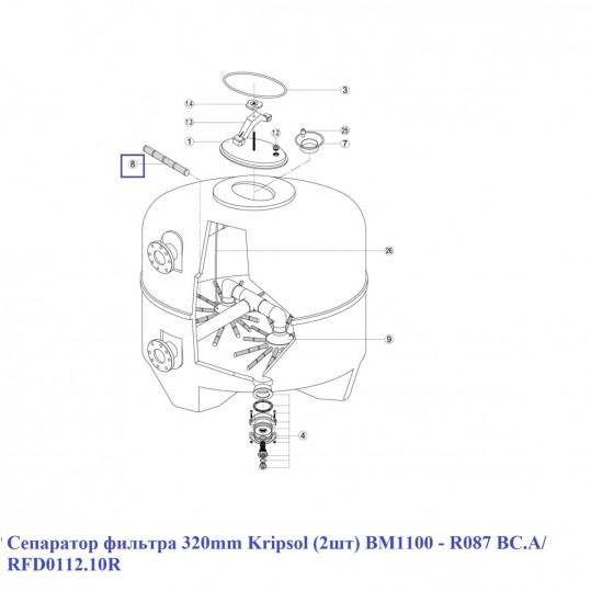 Сепаратор фильтра 320mm Kripsol (2шт) BM1100 - R087 BC.A/ RFD0112.10R