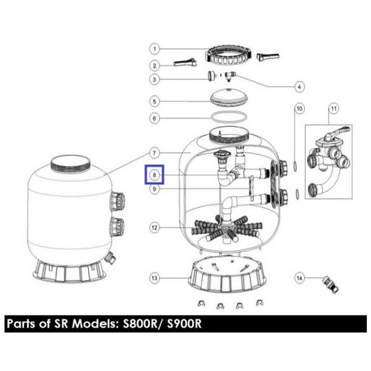 Диффузор фильтра Emaux S800 89011210