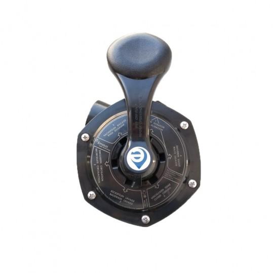 """Кран шестиходовой Emaux MPV03 (1,5"""") боковой (88280811B) черный"""