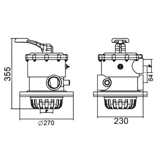 Кран шестиходовой Emaux MPV02 (2'') верхний