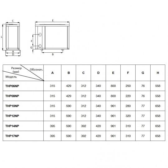 Тепловой насос Fairland THP12NP (тепло, 11.5кВт)