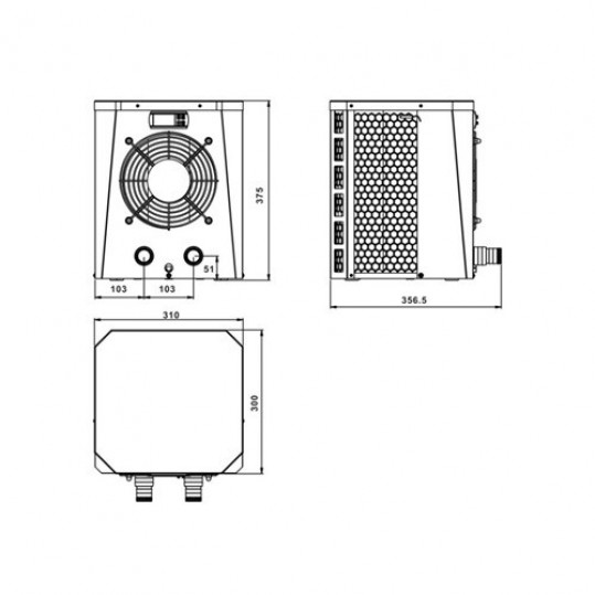 Тепловой насос Fairland XP045 (тепло, 4.2кВт)
