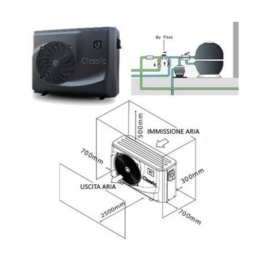 Тепловой насос Hayward CLASSIC POWERLINE 6 (тепло/холод, 9.2Kw)