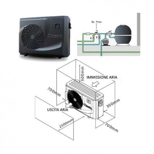 Тепловой насос Hayward CLASSIC POWERLINE 4 (тепло/холод, 5.7КВТ)