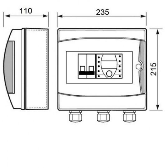 Панель управления аттракционами Toscano ECO-SWIM-230, 230 В
