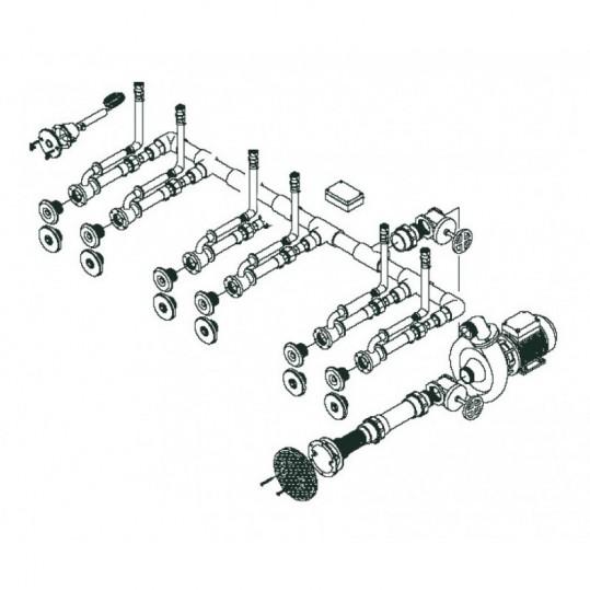 Гидромассаж для бассейна FitStar Standard 6 L (6 форсунок, окончательный комплект, для пленки)