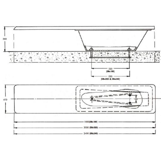 Прыжковая доска Acqua Source 2,4 м