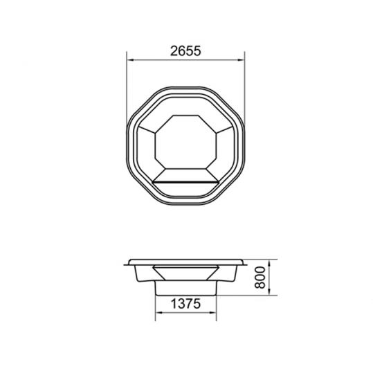 СПА-бассейн Калипсо 2 2,65 x 0,80
