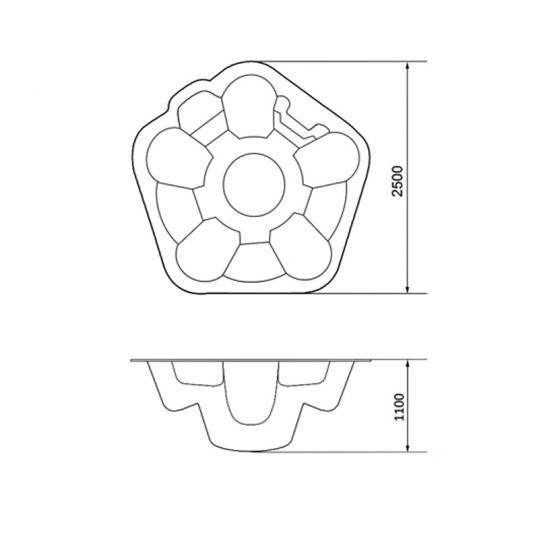 СПА-бассейн Ромашка 2,50 x 1,10