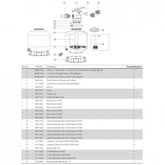 Фильтр Emaux P700 (19 м3/ч, D703)