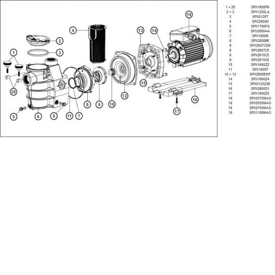 Насос Hayward PL Plus 81030 (220В, 8,6 м³/час, 0.5HP)