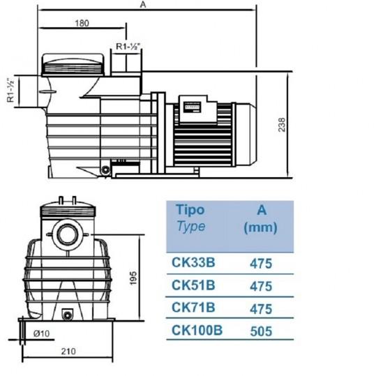 Насос KRIPSOL Kapri KAP 350 (380В, 58 м³/час, 3.5НР)