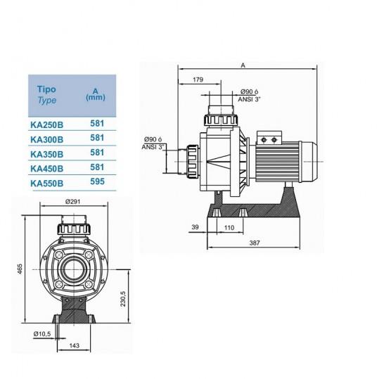 Насос Hayward HCP10251E KA250 M.B (220В, 44 м³/час, 2.5HP)