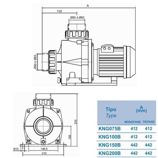 Насос Kripsol Niger KNG 150 22,4 м3/ч, 50/63 мм, 1,6кВт, 220В