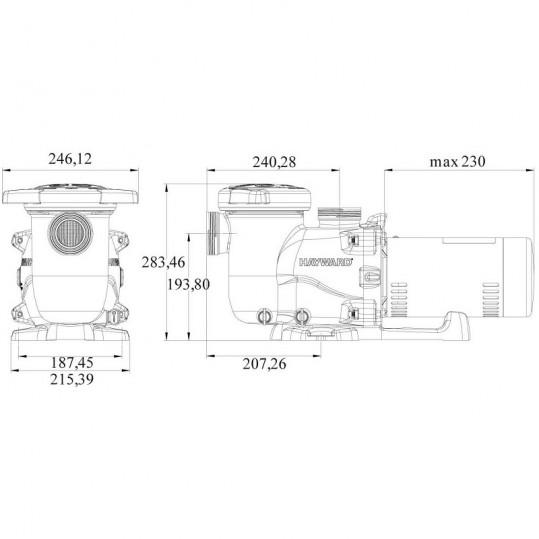Насос Hayward MAX FLO XL 14-17м3/ч, 220В, 50мм, FR