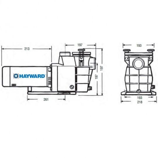 Насос Hayward Power Flo II 14м3/ч, 220В, 0.75кВт, 50мм
