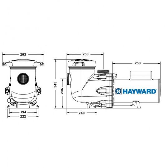Насос Hayward TriStar 23-26м3/ч, 220В, 1.1кВт, 63мм