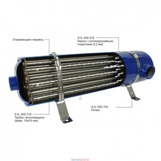 Теплообменник Emaux HE 60 кВт