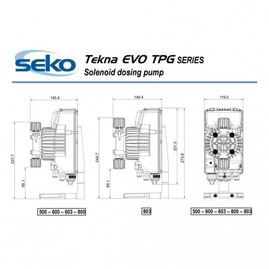 Дозирующий насос Seko Tekna EVO TPG 603 (5 л/час, цифровой)