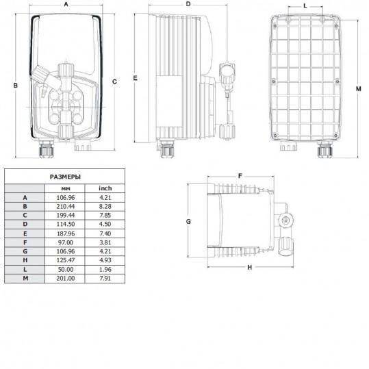 Дозирующий насос Emec универсальный 1 л/ч c ручной регул. (VACO1501)