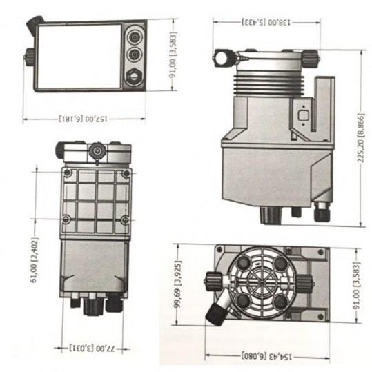 Дозирующий насос Emec универсальный 4 л/ч с ручной регулировкой (KCOPLUS1504)