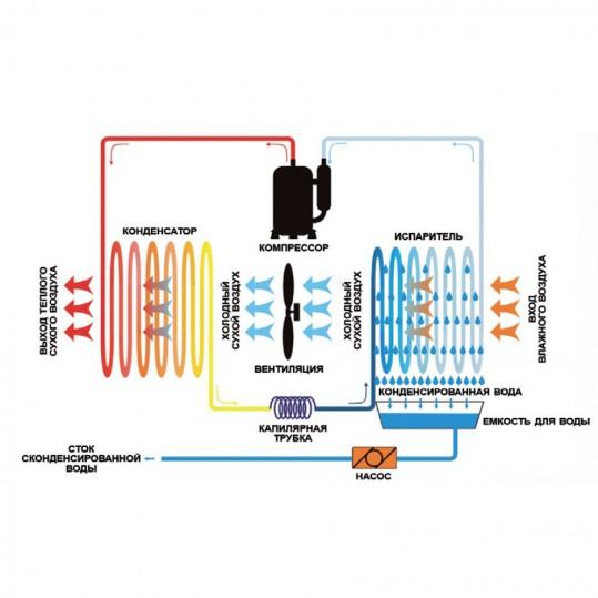 Осушитель воздуха Apex AQ-60D (60 л/сутки)