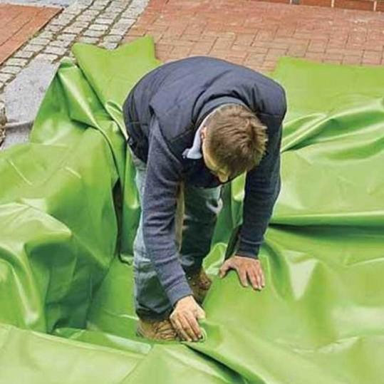 Плёнка ПВХ для искусственных водоёмов (зеленая, 1 мм .)