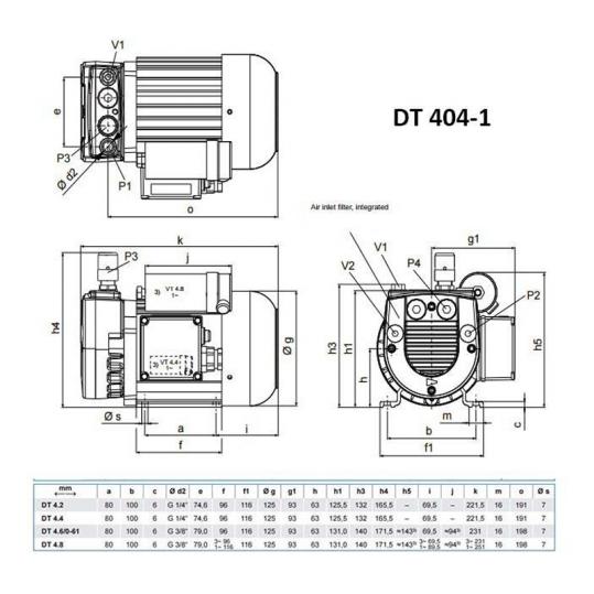 Компрессор HPE DT 404-1