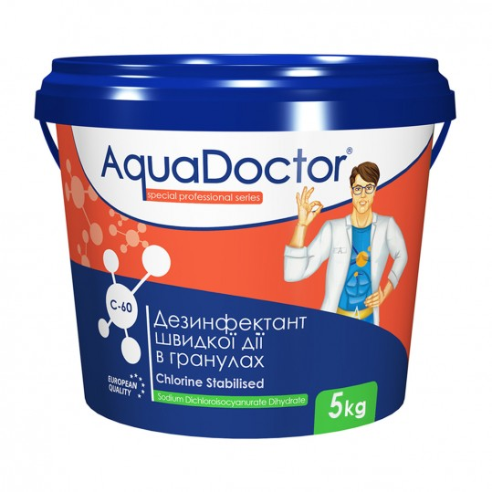 Фото - Хлор шокового действия Aquadoctor C-60 5 кг (гранулы)