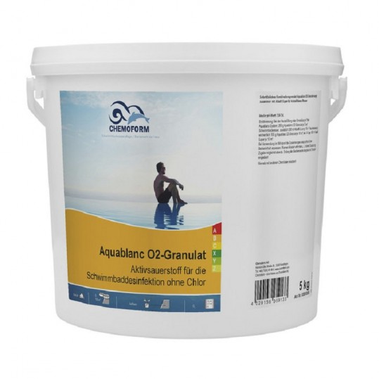 Фото - Бесхлорная дезинфекция Chemoform Aquablanc O2 Sauerstoffgranulat 3кг (гранулы)