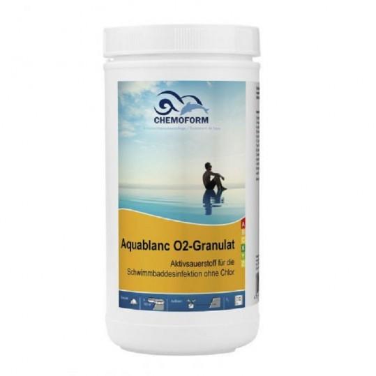 Фото - Бесхлорная дезинфекция Chemoform Aquablanc O2 Sauerstoffgranulat 1кг (гранулы)