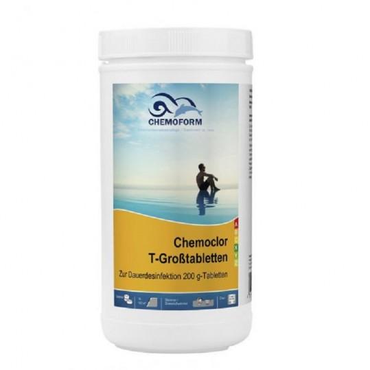 Фото - Хлор длительного действия Chemoform Chemochlor-T-Grosstabletten 1 кг (табл. 200 г)