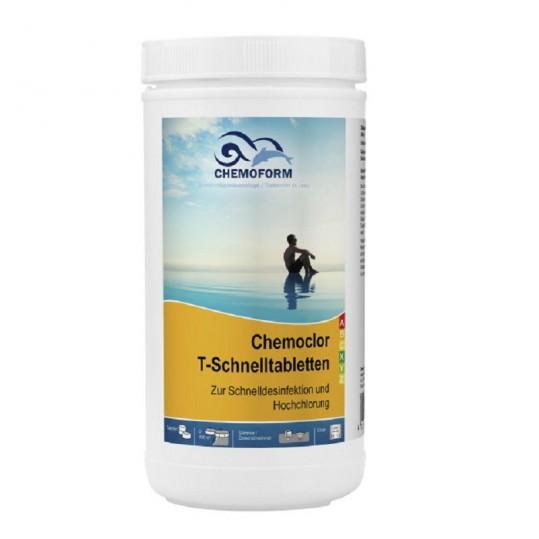Фото - Хлор шокового действия Chemoform Chemochlor-T-Schnelltabletten 1 кг (табл. 20 г)