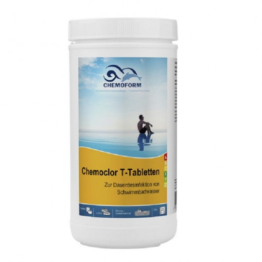 Фото - Хлор длительного действия Chemoform Chemochlor-T-Tabletten 1 кг (табл. 20 г)