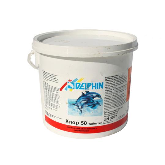 Фото - Хлор шокового действия Delphin Хлор 50  (таблетки) 5кг
