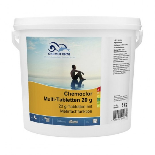 Фото - Хлор длительного действия Chemoform Multitab 3 кг. (табл. 20г)