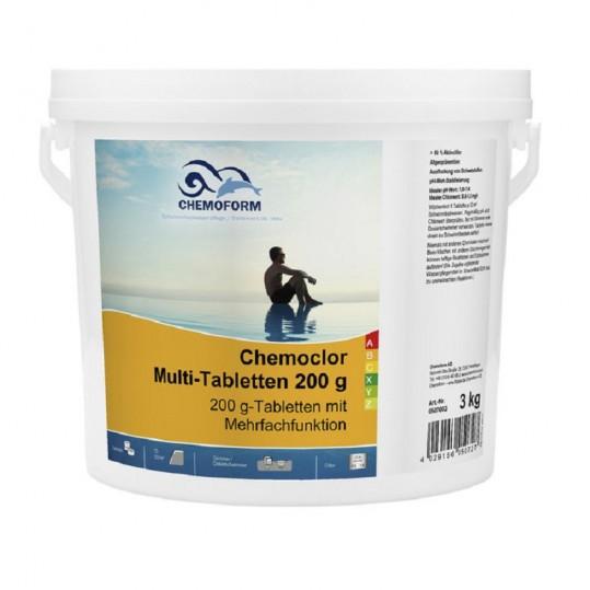 Фото - Хлор длительного действия Chemoform Multitab 3 кг. (табл. 200г)