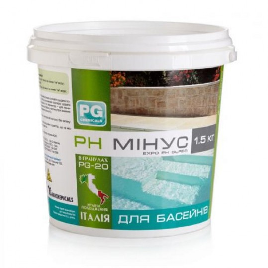 Фото - Регулятор pH Barchemicals pH минус 1,5 кг (гранулы)